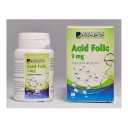 ACID FOLIC 1 MG X 50 CP BIOGALENICA